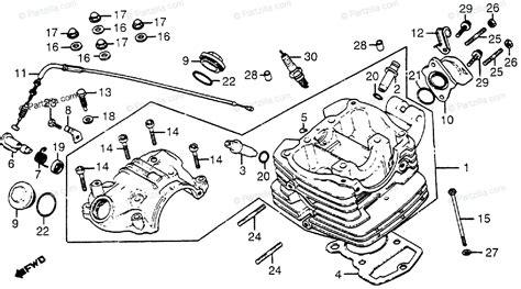 Honda Motorcycle Oem Parts Diagram For Cylinder Head