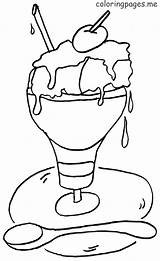 Ice Cream Coloring Pages Parlor Print Coloringtop sketch template