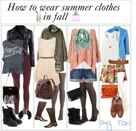 how to clothes quot how to wear summer clothes in fall and winter quot by tip