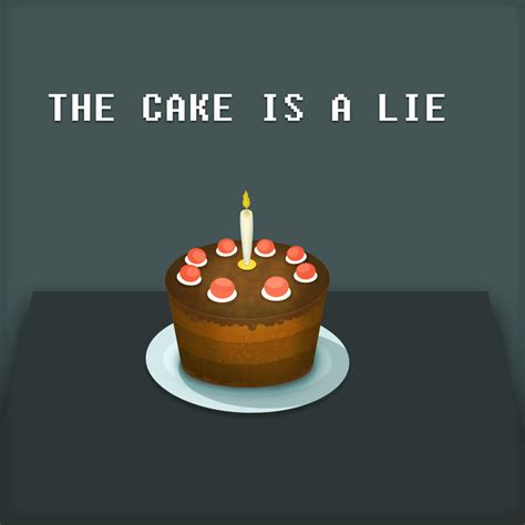 the cake is a lie the portal cake is a lie by andrejaz on deviantart