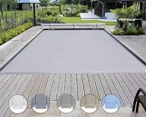volet piscine manuel 6 x 3 m hydro sud With volet roulant piscine gris
