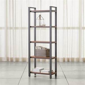 Coffee Shop Design Book Pilsen Graphite Bookcase With Walnut Shelves Reviews