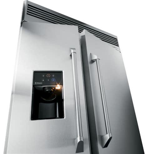 ge monogram  professional built  side  side refrigerator  dispenser zispdtss