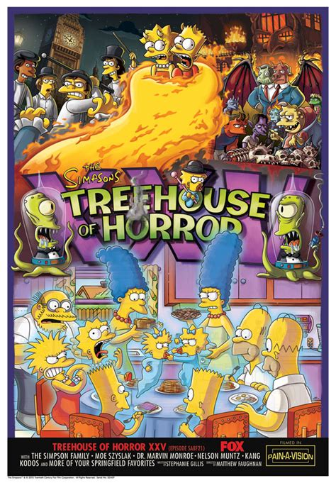 simpsons treehouse  horror giclee prints