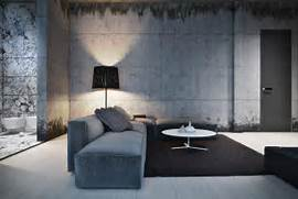 Black Color House Unusual Interior Hard Edged Architecture Is Coupled With Concrete Walls For A Masculine