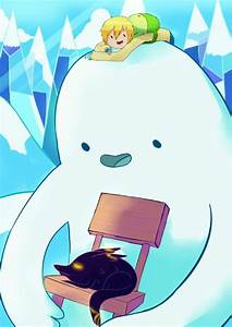 Snow Golem and fire wolf cub from the Adventure Time ...