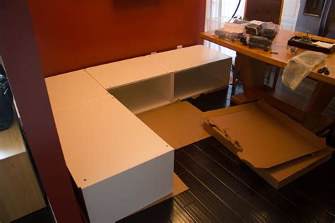 diy kitchen banquette bench using ikea cabinets hacks 2013