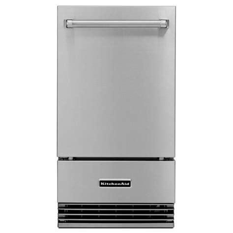 Kitchenaid Fridge Maker Troubleshoot by Kitchenaid 18 In 50 Lb Freestanding Or Built In Outdoor