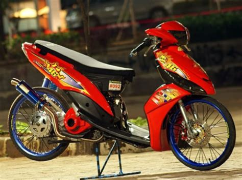 Modifikasi Mio Thailook by Modifikasi Yamaha Mio J Thailook Konsep Airbrush Dan Velg