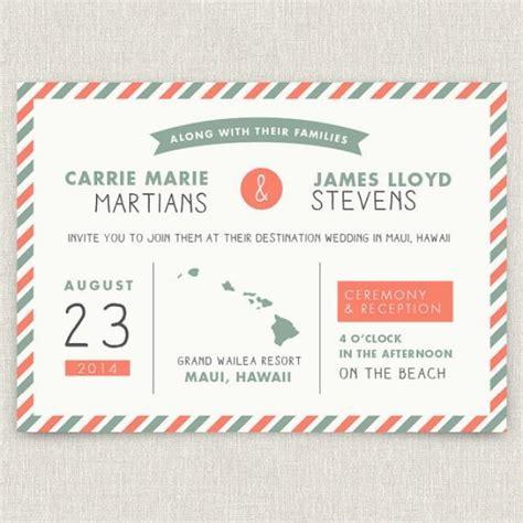 postage modern destination wedding invitation  map