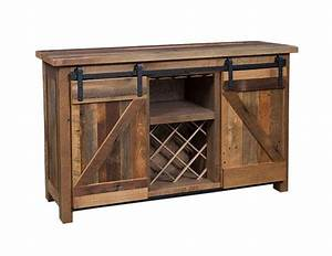 sliding barn door wine server reclaimed wood dutchcrafters With barn door server