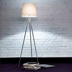 ml668 brushed nickel tripod floor lamp integral touch With tripod floor lamp with dimmer