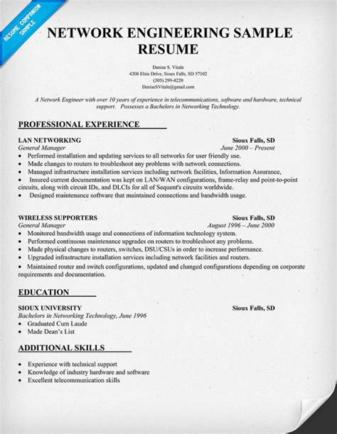 resume for hardware and networking engineer resume ideas