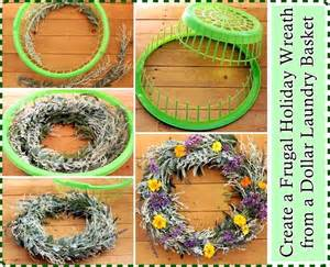 create a frugal wreath from a dollar laundry basket pinlavie