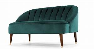 Made Com : margot 2 seater sofa peacock blue velvet ~ Orissabook.com Haus und Dekorationen