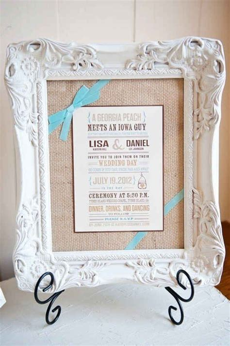 frame their wedding invitation so cute inexpensive