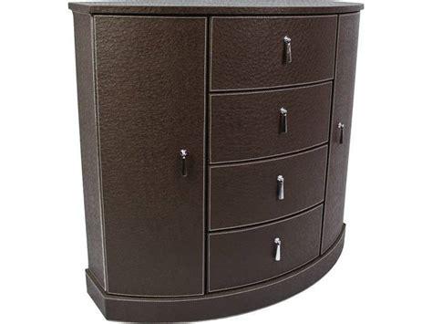 mobilier bureau marseille petit meuble d 39 appoint aspect cuir en demi lune meuble