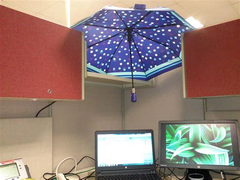 Office Desk Umbrella by Work Environment Shared Fluorescent Light Problem The