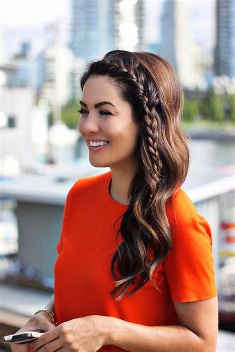 quick  easy side braid hairstyles  pinterest