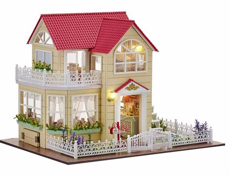 miniature houses new dollhouse miniature diy kit dolls house with furniture