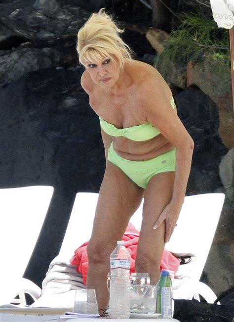 trump ivana bikini age shows zimbio