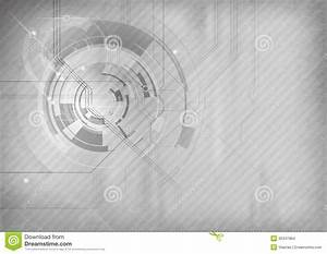 Grey tech background stock vector. Illustration of ...