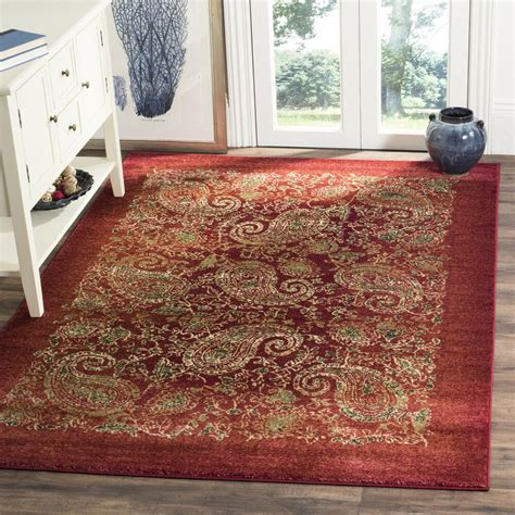 lyndhurst collection red paisley print contemporary indoor area rug  ebay