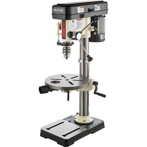 drill presses shop fox  hp   bench top drill