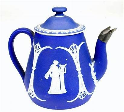Wedgwood Jasperware Antique Teapot 1880s Cobalt Nice