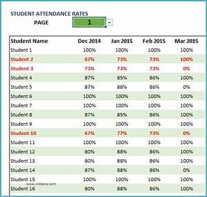Training Attendance Register Template Student Attendance Register Excel Template