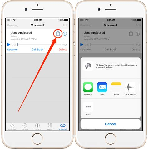 how to forward a voicemail on iphone or save voicemail on