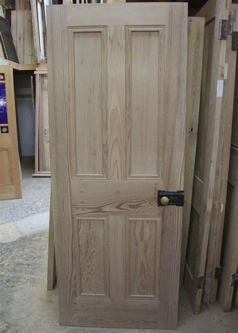 staining pine doors solid 4 panel interior pitch pine door stained glass