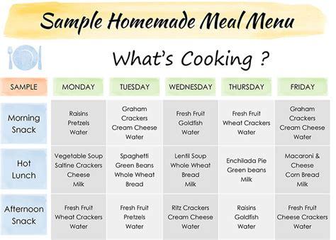 lunch menu for preschoolers meals amp snacks happy schools 580