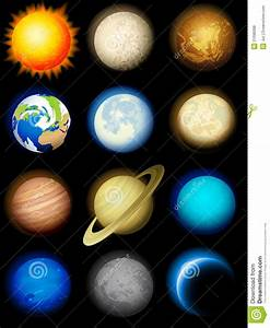 Solar System Icons Royalty Free Stock Photos - Image: 21096098