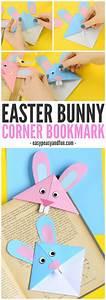 Easter Bunny Corner Bookmark!! Easy beginner origami for