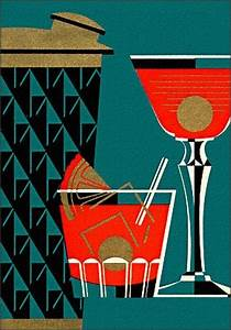 Cocktail Love! this illustration looks very art deco ...