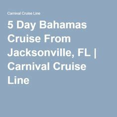 Jacksonville To Bahamas By Boat by 1000 Ideas About Carnival Cruise Lines On
