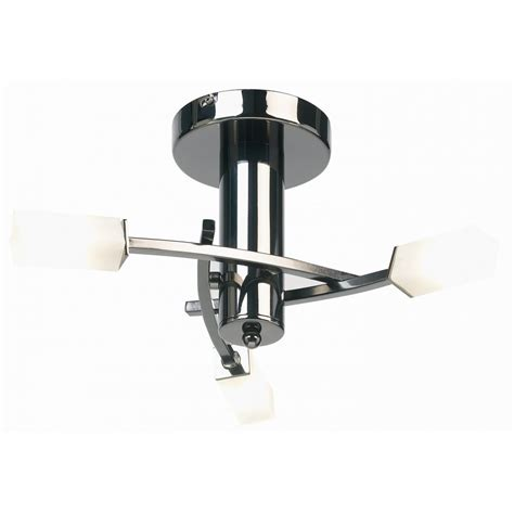 endon lighting 146 3bc black chrome semi flush ceiling light