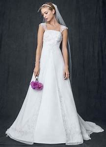 david39s bridal sample wedding dress a line with chiffon With split front wedding dress