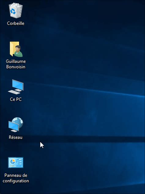 bureau windows windows 10 afficher les icônes du bureau ce pc