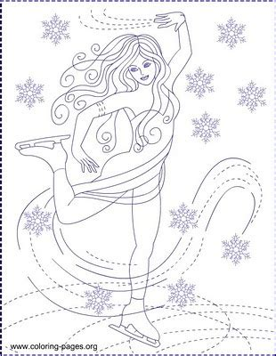 nicoles  coloring pages ice skating ice princess coloring pages