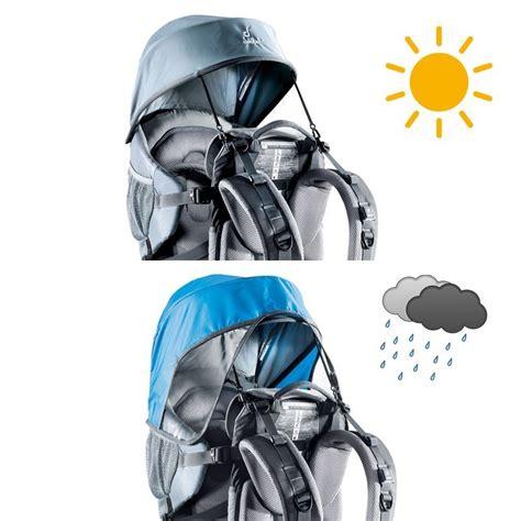 porte b 233 b 233 deuter kid comfort 1 pare pluie et pare soleil