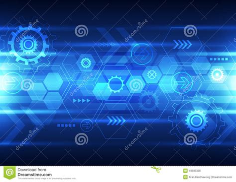 abstract future technology design background vector