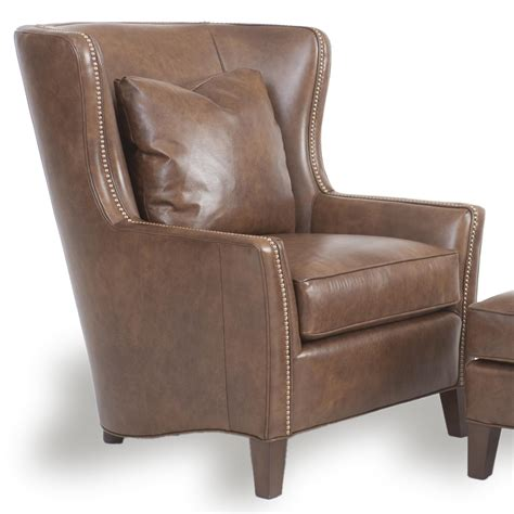 wingback chair and ottoman by smith brothers wolf and