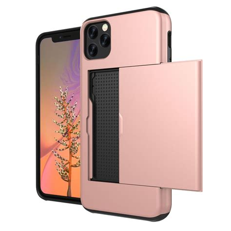 One slot for iphone, 2 slots for credit cards ( each slot can hold few cards) and slot for. iPhone 11 Pro Max Armor Protective Case with Card Slot :: PDair Black