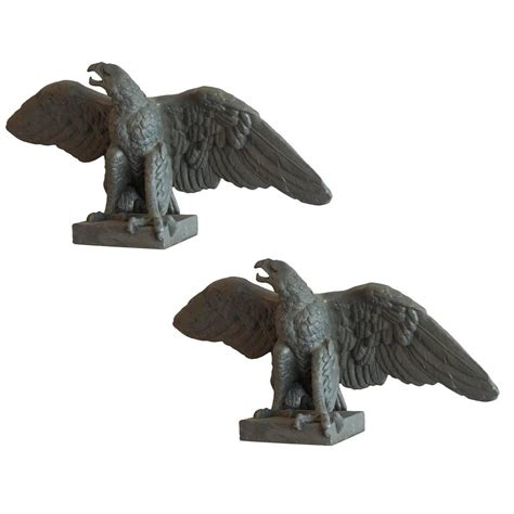 eagle sculptures for sale large mid 20th century pair of eagle statues for sale at 1stdibs
