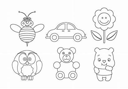 Coloring Symbols Vector Pages Toys Vecteezy Illustration
