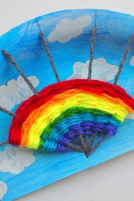 rainbow paper plate weaving project weaving art weaving