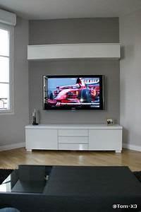 Mur Tv Ikea : tv accroch e au mur et c bles dans le mur d co pinterest tv mur et mur tv ~ Teatrodelosmanantiales.com Idées de Décoration