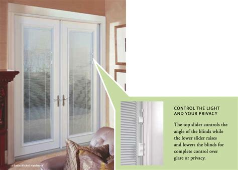hinged patio doors with blinds between glass fordesign